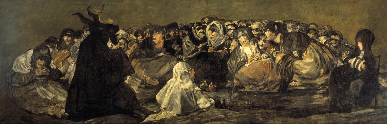 El Aquelarre. Serie Pinturas Negras. Francisco de Goya y Lucientes